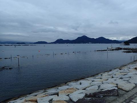 あいにくの天気でも海は穏やか@平沢ビーチ20171013