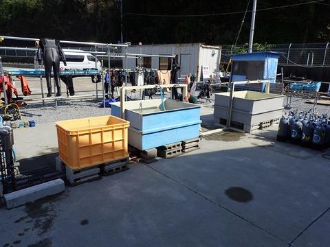 新器材洗い水槽
