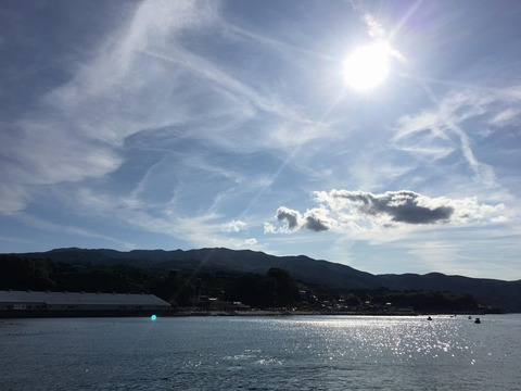 今日も穏やかな平沢ビーチ