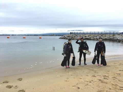 砂浜からエントリー体験ダイビング@らららサンビーチ