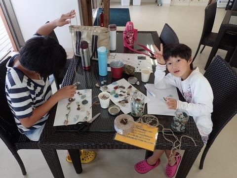 丸さんのお子たちはシーボーアート製作