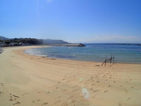 砂浜からエントリー