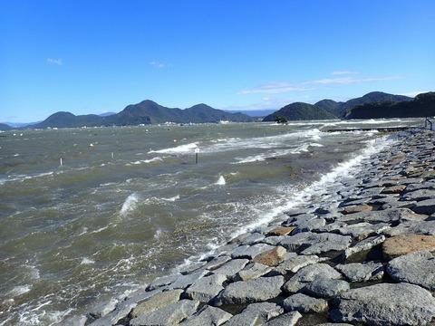 台風21号の吹き返し (1)