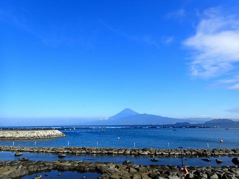 富士山くっきり@平沢ビーチ