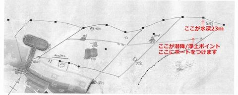 平沢ビーチ水中MAP1