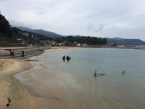 砂浜からもダイビング@平沢ビーチ