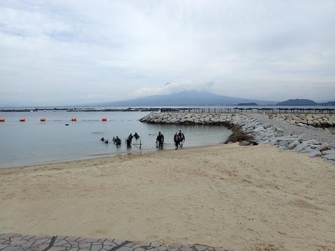 砂浜からエントリー@らららサンビーチ