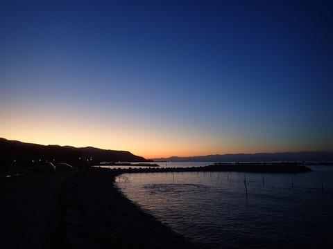 らららサンビーチの冬の夕焼け