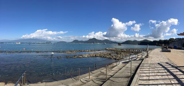 台風一過の平沢ビーチ