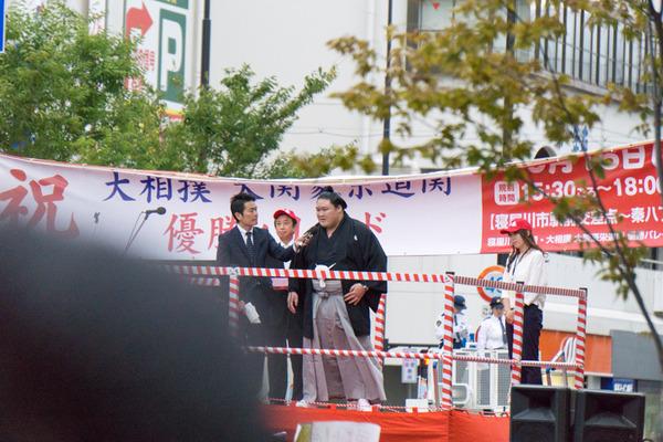 豪栄道優勝祝賀パレード-9