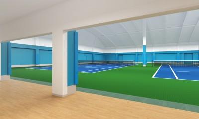 3階テニスコート2面