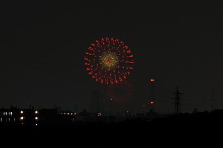 枚方から淀川花火130810-04