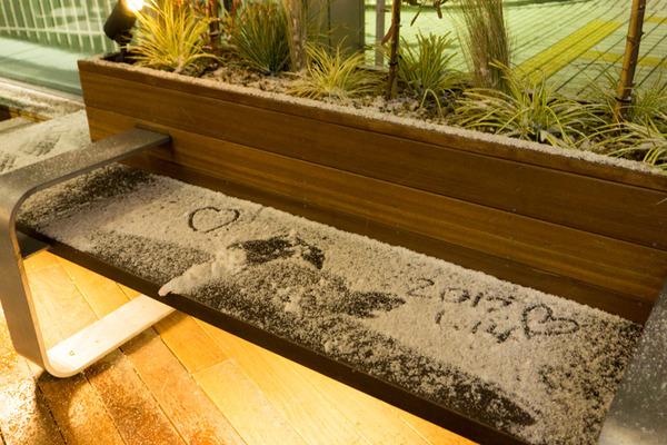 枚方市駅の雪-2