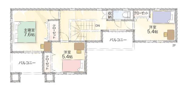エクセランド菊丘2号地2階間取