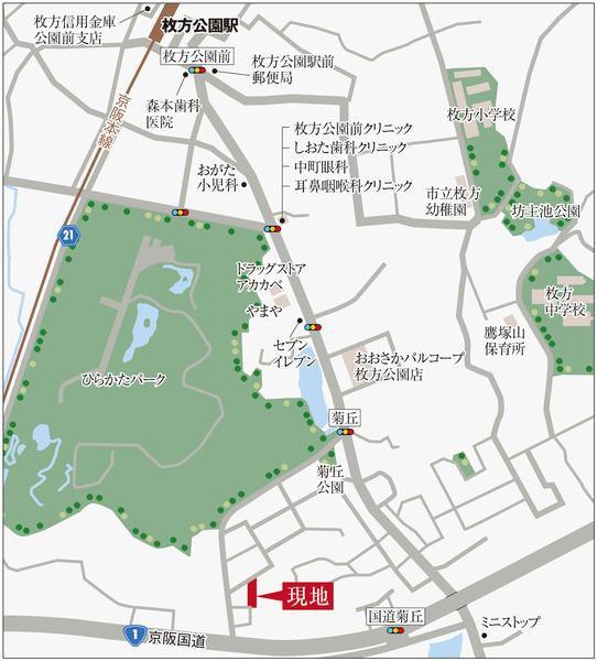 エクセランド菊丘地図