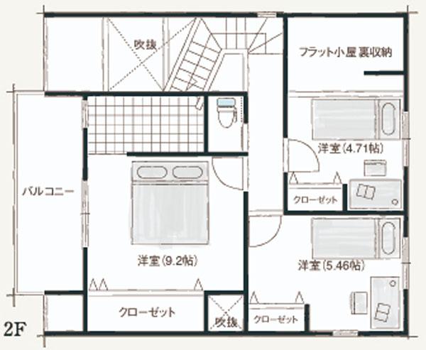 2号地2階間取り