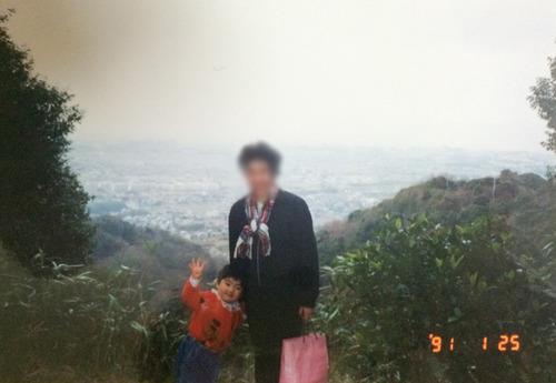 獅子窟寺から臨む枚方1991