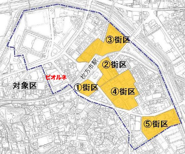 枚方市駅周辺再整備対象区域