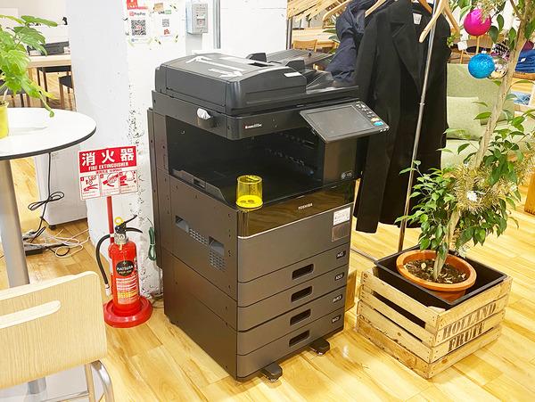 大阪・枚方市のコワーキングスペース ビィーゴのスキャン・コピーができる複合機