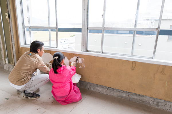 ひらばDIY漆喰塗り体験-39