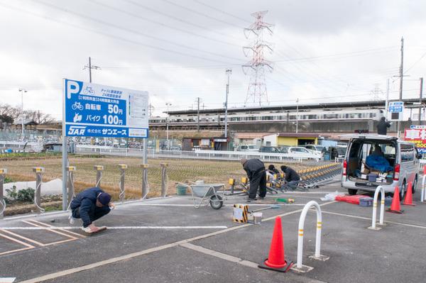 20180125チャリピ藤阪駅前-9