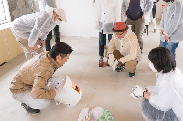 ひらばDIY漆喰塗り体験-15