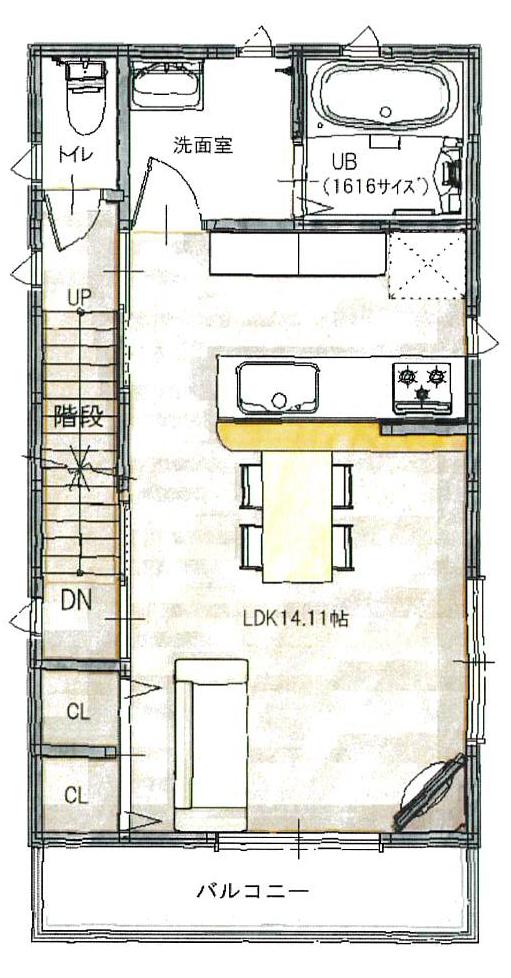 宮之阪2階間取図