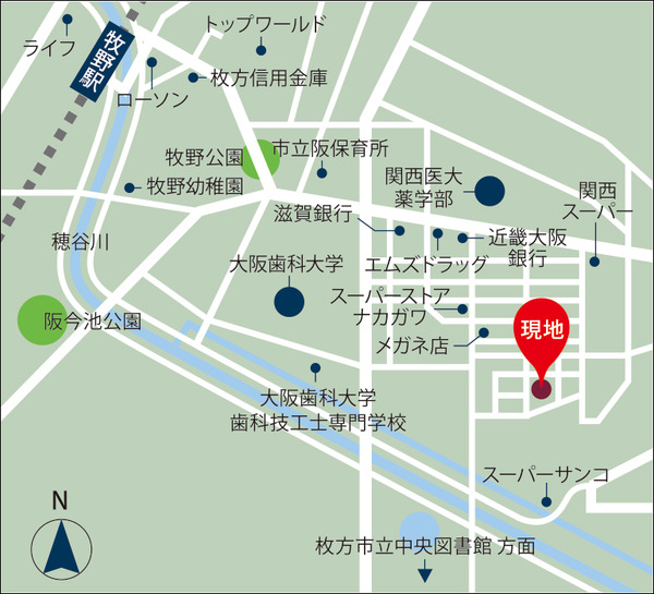 牧野本町地図