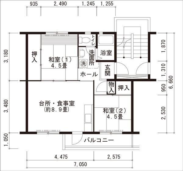 UR男山団地間取り図