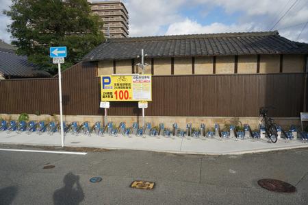 京阪牧野駅前24時間駐輪場131016-02