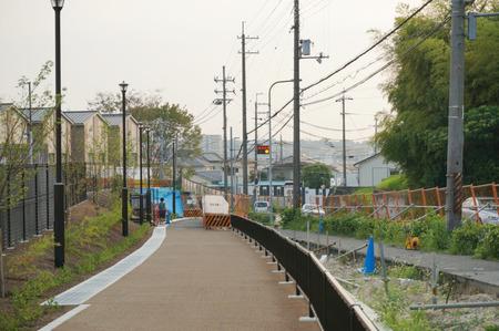 枚方茨木線歩道設置工事130815-33