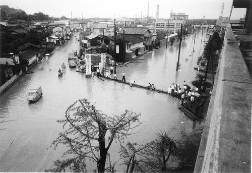 豪雨による浸水