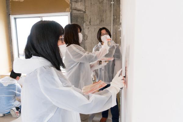 ひらばDIY漆喰塗り体験-35