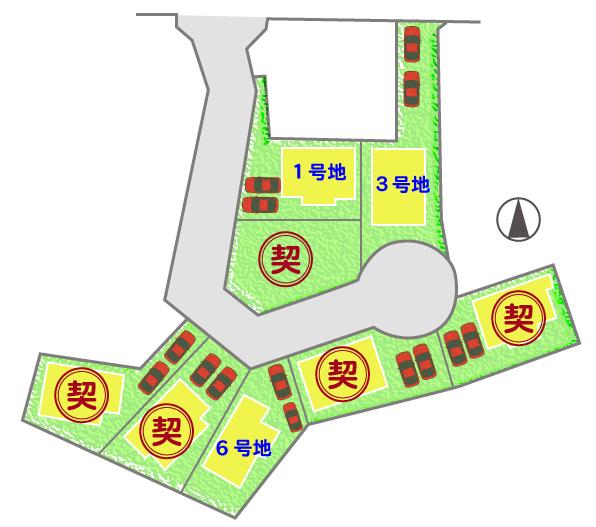 八幡市長谷区画図