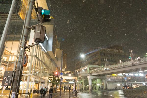 枚方市駅の雪-22