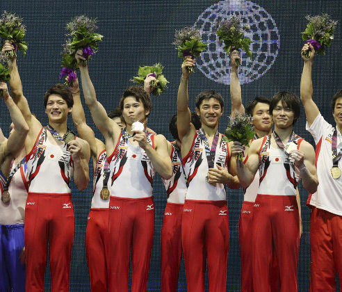 体操 団体で37年ぶりの金メダル