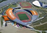 宮城スタジアムでサッカー観戦
