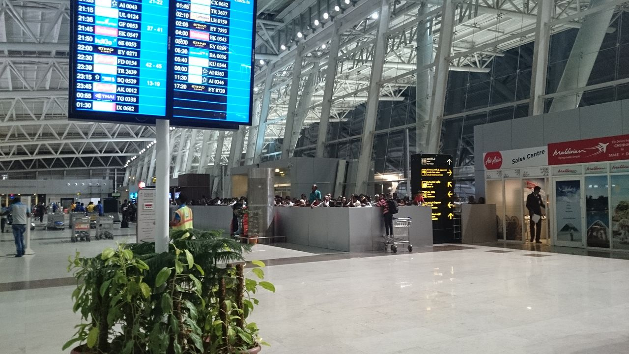チェンナイ国際空港からの出国手...