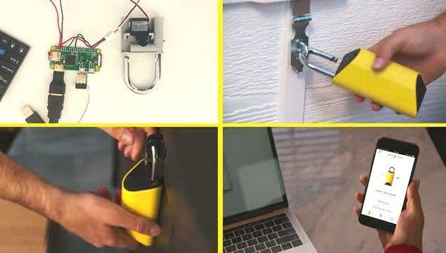 【動画】 スマホで管理できる「南京錠」を宅配屋さんが操作して開ける!!