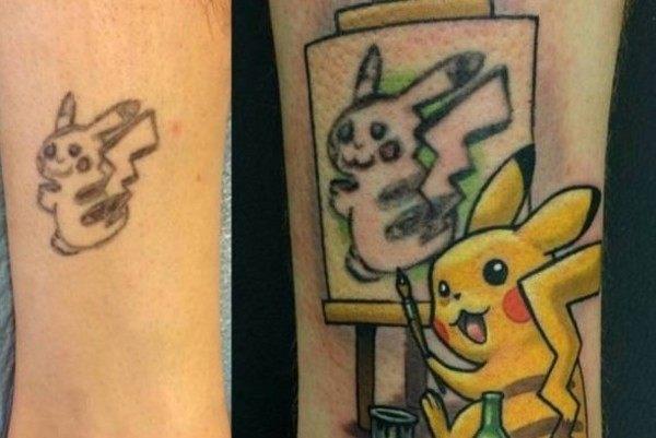 タトゥーの修正