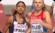女子、400メートルリレー