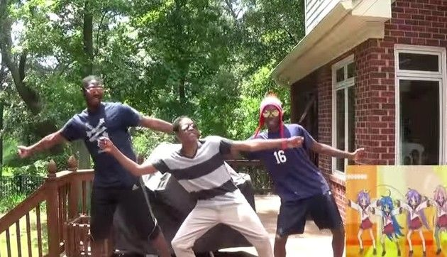 黒人だけどらきすた踊ってみた