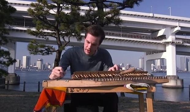 割りばしで作った楽器