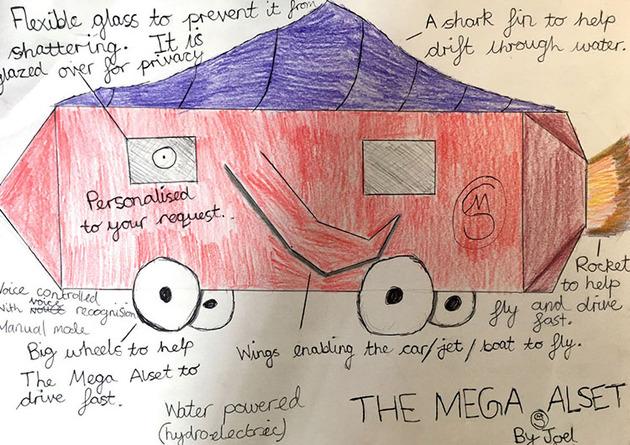子供が考えた未来の車をリアルに (7)