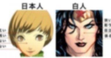 アニメ絵は白人か日本人か?