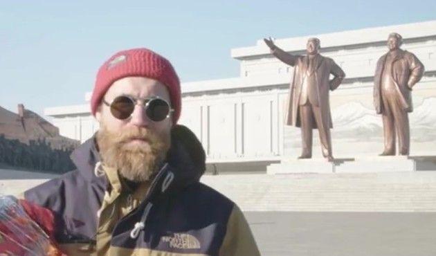 北朝鮮に行ったスキーヤー