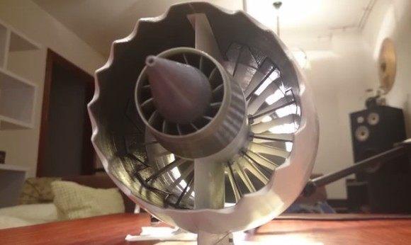 ジェット機のエンジンを3dプリンタで作った