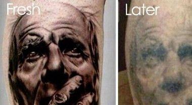タトゥーの経年劣化