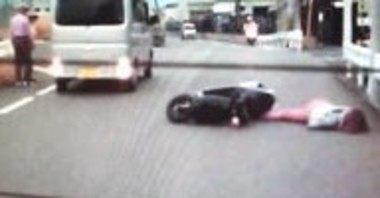 半キャップのバイクの事故など