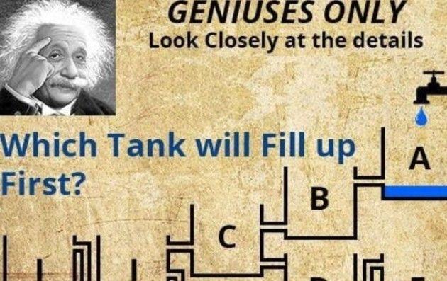 バケツに水が貯まる順番のクイズ (2)